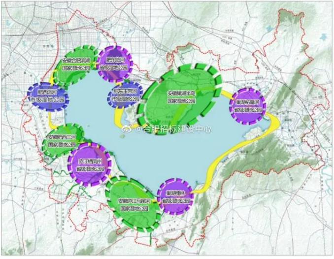 约14.5万亩,环巢湖湿地公园群建设总体规划曝光