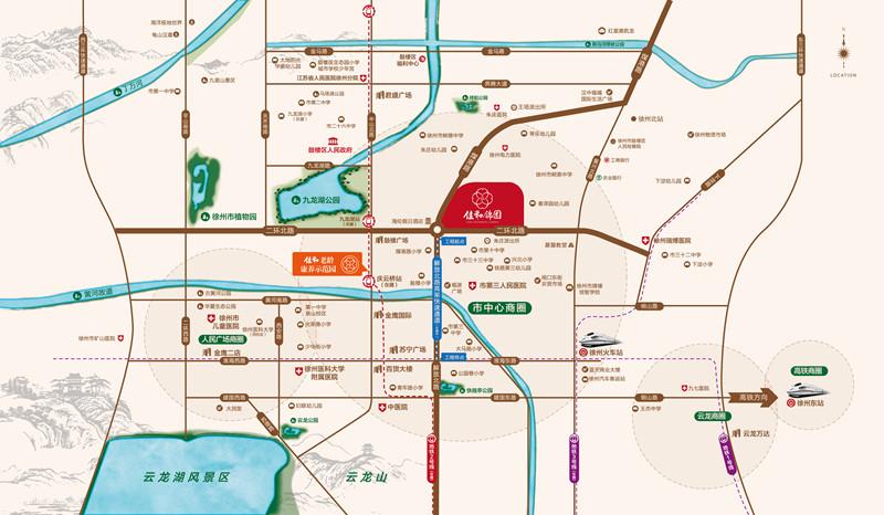 佳和锦园交通图
