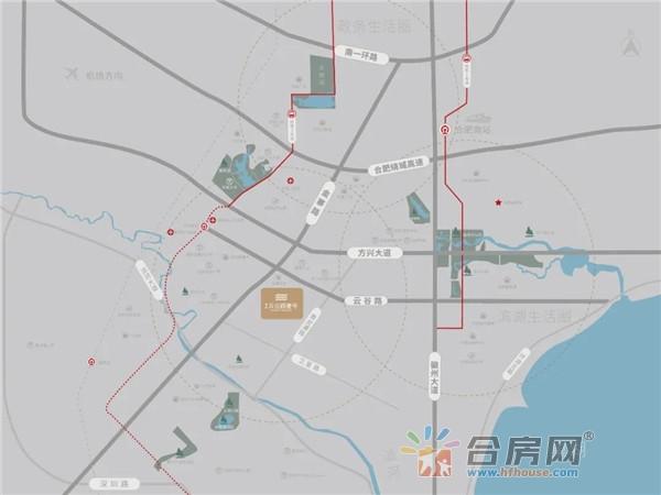 美好云谷路壹号交通图