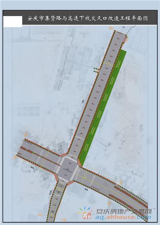 5、集贤路与高速下线交叉口改造工程平面图.jpg
