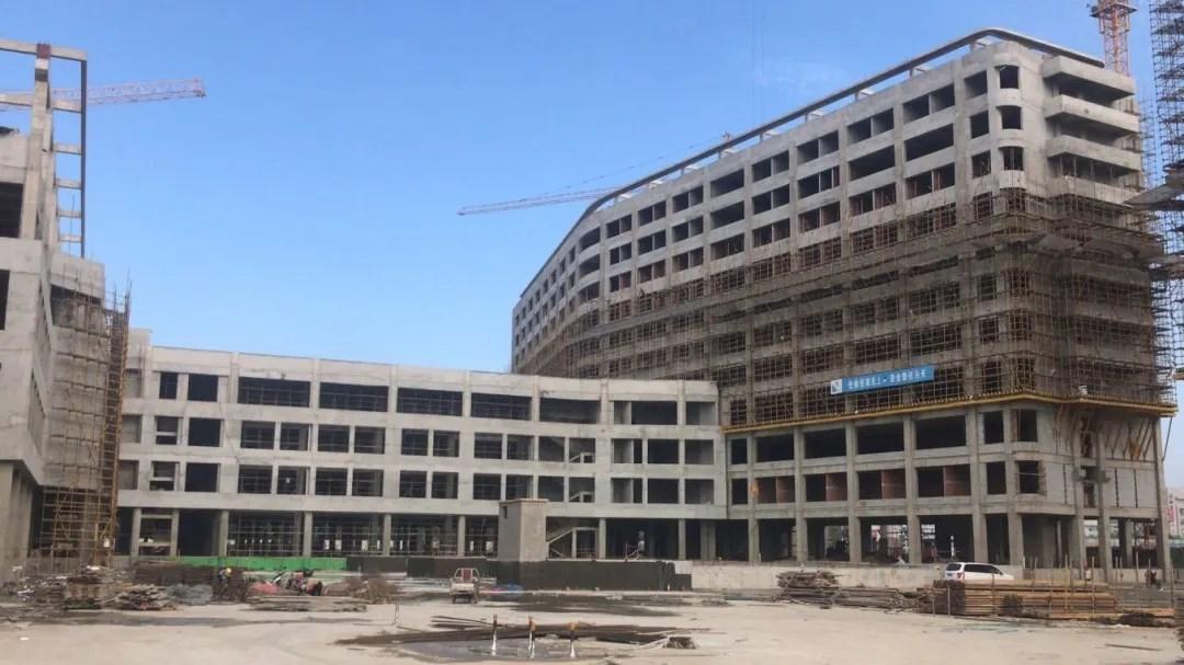 快讯!蚌埠市城南新二院项目单体主体验收已完成