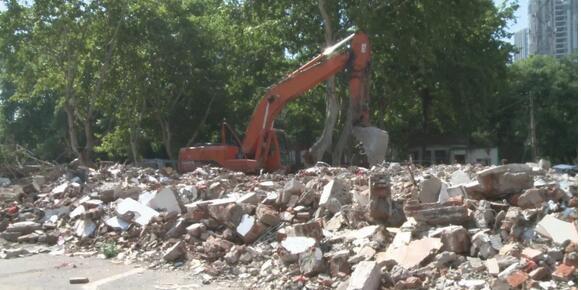 蚌埠南山儿童公园北门已拆除 项目改造面积约10万㎡