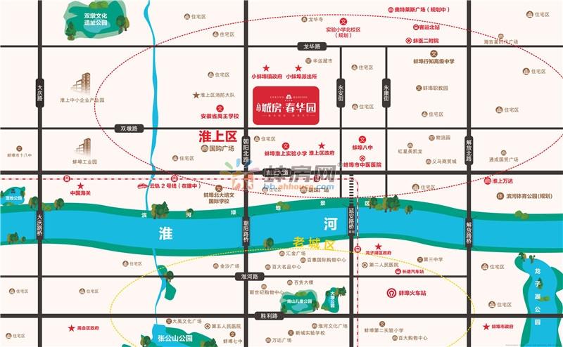 北京城房·春华园交通图