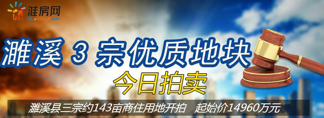 淮房网直播|濉溪县三宗共计143亩商住用地正在拍卖!