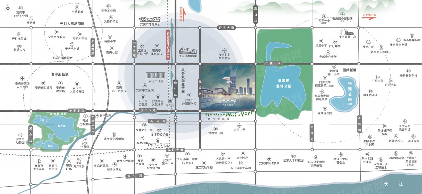 万达·天空之城交通图