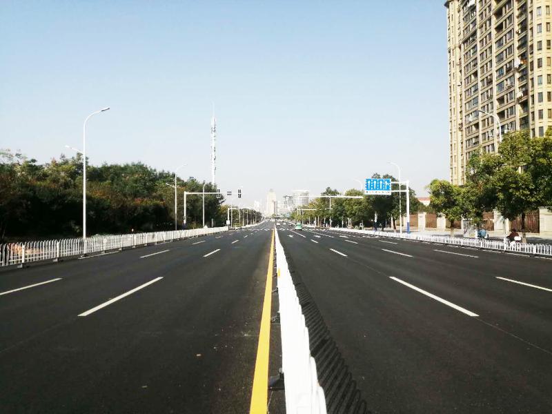 菱湖北路(湖心路-龙眠山路)段道路工程正式开放交通