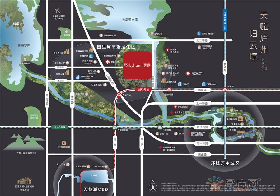 庐州云境交通图
