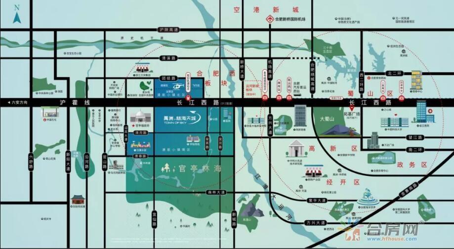 禹洲·林海天城交通图