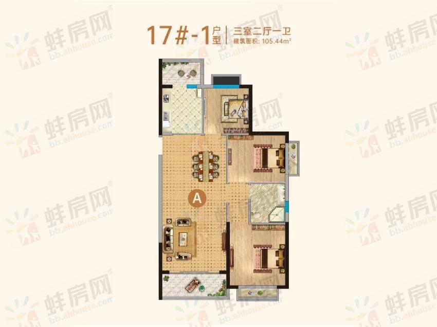 恒大滨河左岸_3室2厅1卫1厨
