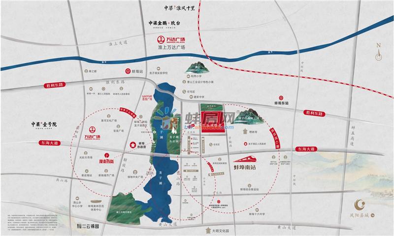 中梁邦泰·山湖雅苑交通图