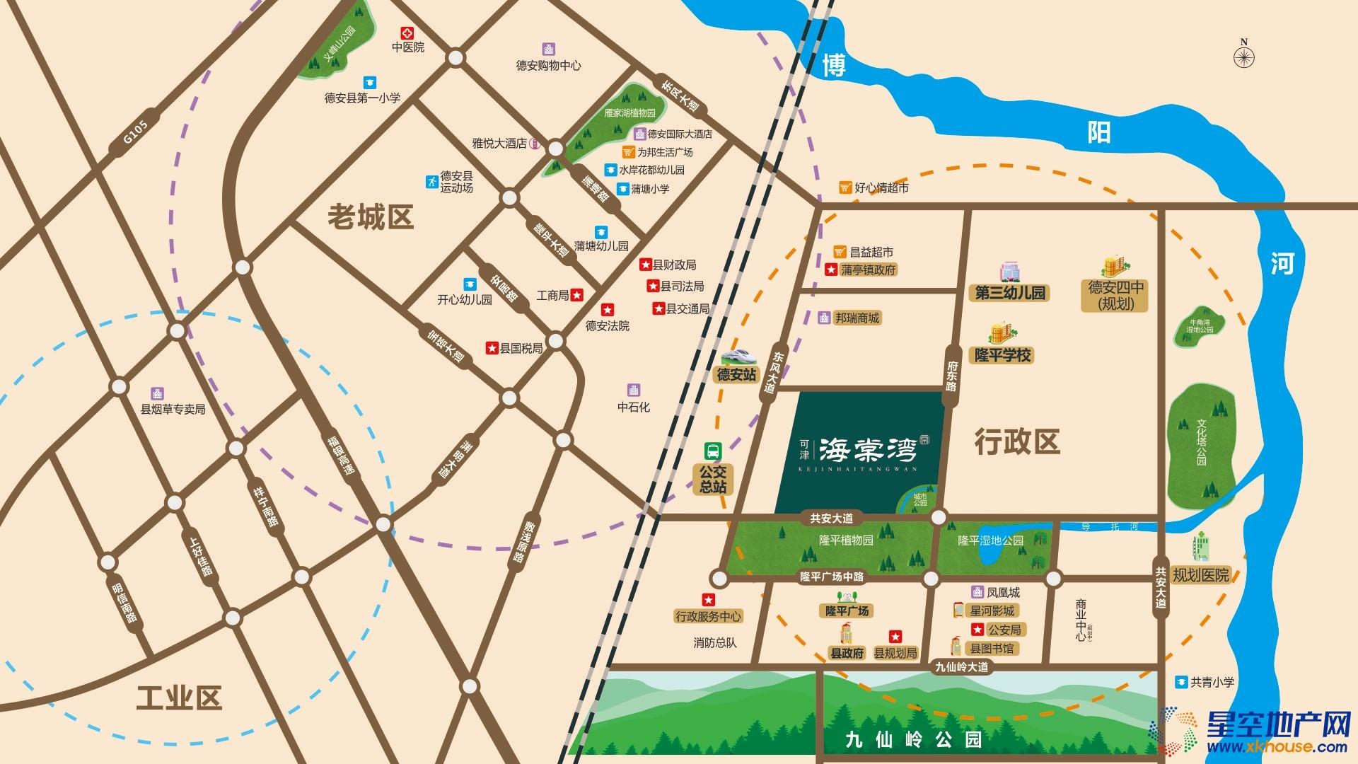可津海棠湾交通图