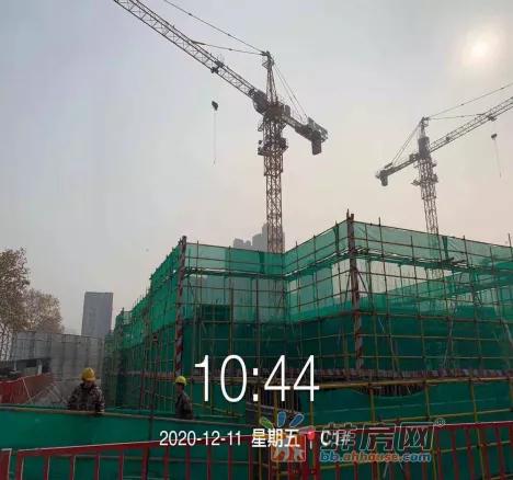 奥园誉府12月工程进度:C1#楼建至一层