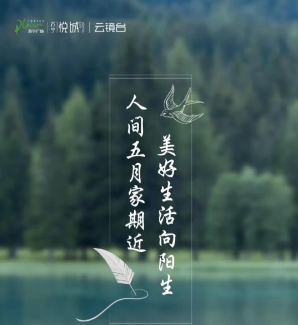 苏宁悦城丨人间五月家期近,美好生活向阳生