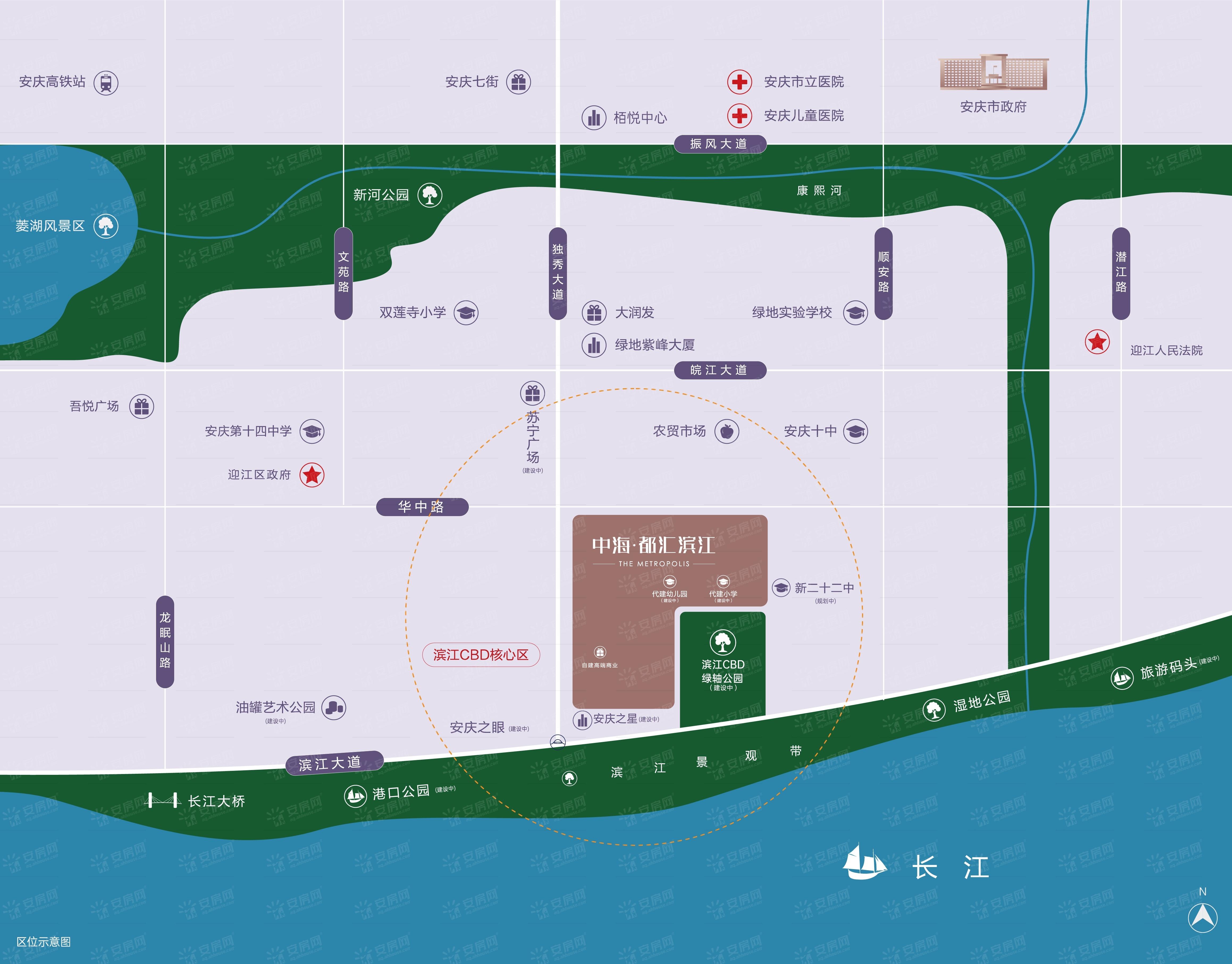 中海·都汇滨江交通图